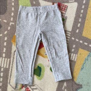 Other - Carters Toddler Leggings Gray Polka Dot 24m